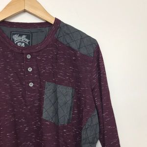 NWT Henley Quilted shoulders and sides
